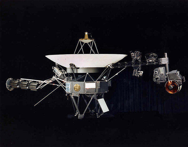 This NASA file image shows one of the two Voyager spacecraft.