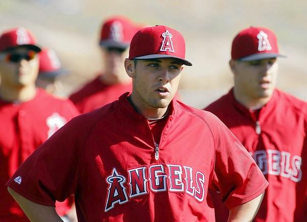 Angels outfielder Peter Bourjos takes the field during spring training at Diablo Stadium in Tempe, Ariz., in February.