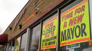 Closed shop protests raid