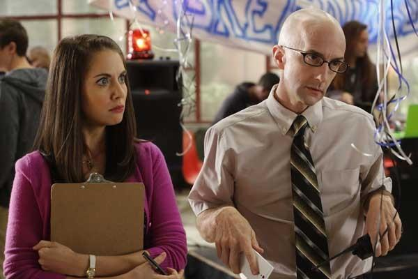 "Alison Brie and Jim Rash in a new episode of NBC's ""Community."""