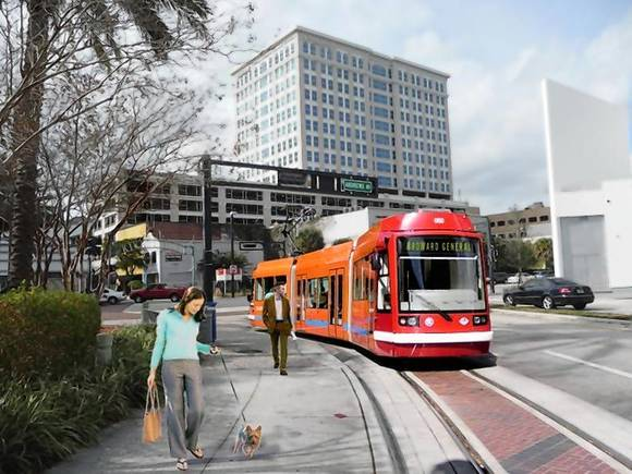 How the electric streetcar could look.  It is expected to be operating in downtown Fort Lauderdale by 2016.