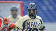 Pat Kiernan, Navy's do-it-all long-stick midfielder, plays wing on faceoffs and is a threat to score in transition. He acknowledged, however, that there is one area of his game that needs work: his voice.