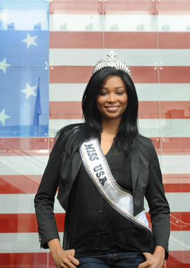 Miss USA Nana Meriwether shows some of the bearing that helped earn her the title.