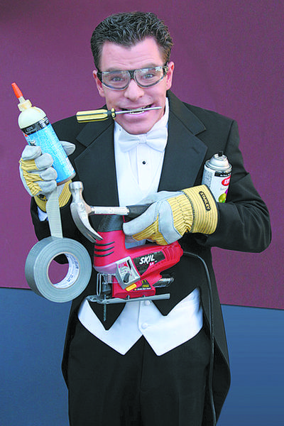 Magician Eric Buss blends a bit of comedy and handyman skills into his magic show. He performs Saturday, March 23, during the Safe Place/Antietam Exchange Club Comedy and Magic Show.