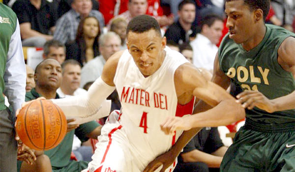 Elijah Brown, the son of former Lakers Coach Mike Brown, is averaging 17.5 points per game for Mater Dei who will play San Jose Mitty in the CIF Open Division championship on Saturday.