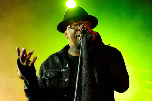 Singer Bobby Brown performs at will.i.am's annual TRANS4M benefit concert in Hollywood in February.