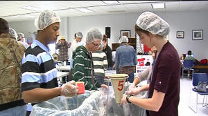 Lynchburg students make 10,000 meals for the hungry