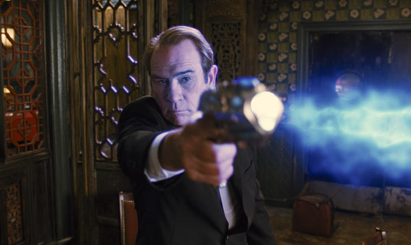 "Tommy Lee Jones stars in Columbia Pictures' action-adventure comedy movie ""Men in Black 3."" Prime Focus, which did visual effects and 3-D conversion work on the movie, is a bidder for Rhythm & Hues."