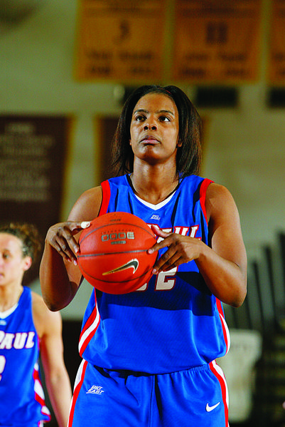 Khara Smith was a three-time All-American at DePaul.