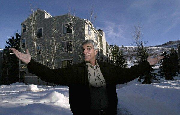 Porn star Harry Reems, shown in Park City, Utah, started selling real estate after he stopped abusing alcohol in the late 1980s. He also turned toward religion.