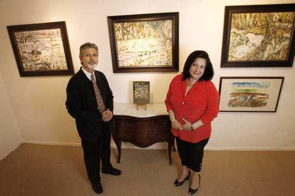 Stephanie's Art Gallery owners Sepon Stanian and his wife Linda.