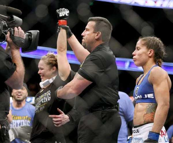 """Ronda Rousey, left, is set to be a coach on """"The Ultimate Fighter,"""" a TV show on FX."""