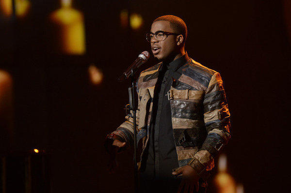 "Burnell Taylor performs on ""American Idol."""