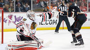 ANAHEIM, Calif. -- A little more than five minutes separated the Blackhawks from a perfect four-game trip and a commanding lead in the Western Conference.
