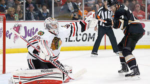 Late mistakes cost Hawks in 4-2 loss to Ducks