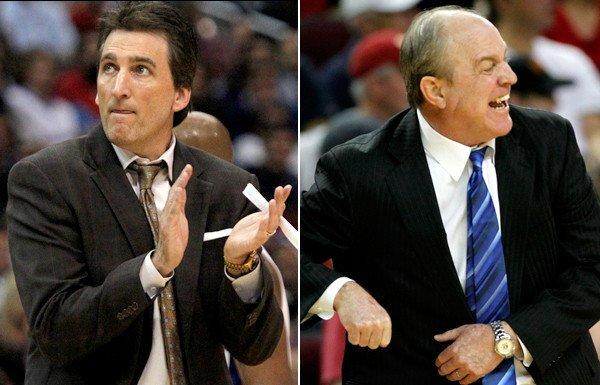 Coaches Vinney Del Negro of the Clippers and Ben Howland of UCLA keep their teams on the winning track despite speculation about their job security.