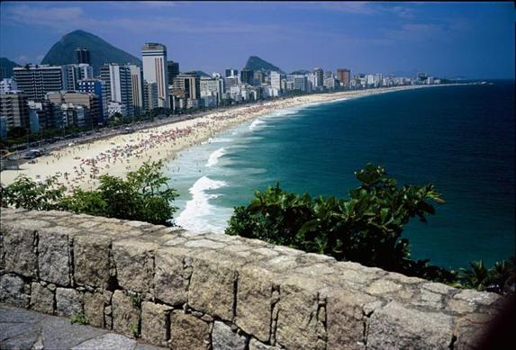 "The beach at Ipanema was brought to popularity by the song ""The Girl from Ipanema."" Ipanema is located in Rio De Janeiro."