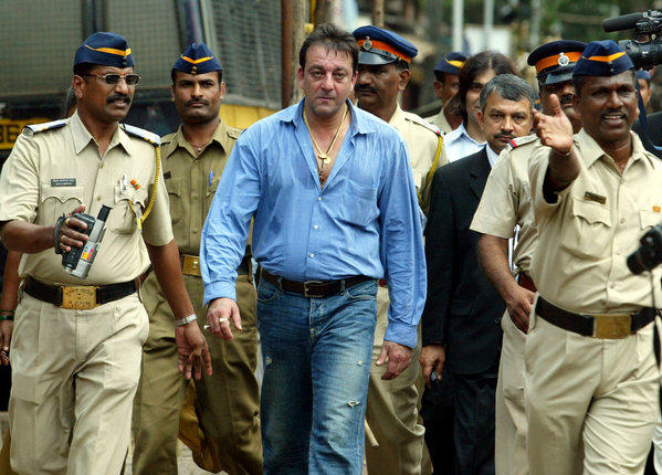 In this Sept. 12, 2006, file photo, Bollywood actor Sanjay Dutt leaves a special court trying the cases of those accused in the 1993 Mumbai bombings in India.