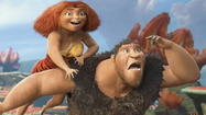 "It's ""Ice Age"" with humans and less ice. ""The Croods"" began life nearly a decade ago as ""Crood Awakening,"" a collaboration of DreamWorks Animation and Aardman Studios, with a script co-written by John Cleese. Then Aardman, creators of the great Wallace & Gromit and the very good ""Chicken Run,"" fell out of the development."
