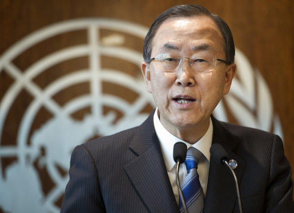 United Nations Secretary-General Ban Ki-moon announces in New York that the United Nations will investigate the possible use of chemical weapons in Syria.