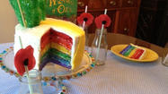 How to make a rainbow layer cake [Pictures]