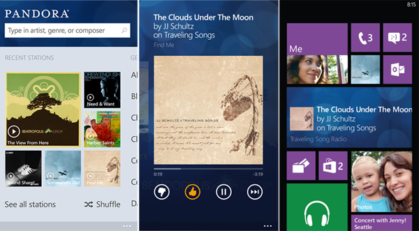 Pandora released its Windows Phone 8 app, and the service will remain ad-free on such devices for the rest of the year.