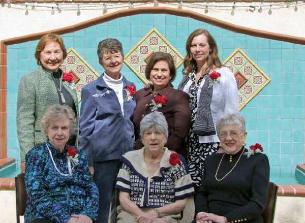 The La Caada Thursday Club recently honored its past presidents. Back row, from left, Peggy Hotaling, Jewel Matsuura, Anita Brenner, Judy Cooper. Front row, from left, Dotty Greenwalt, Suzanne Tutt and Mary Hennesy.