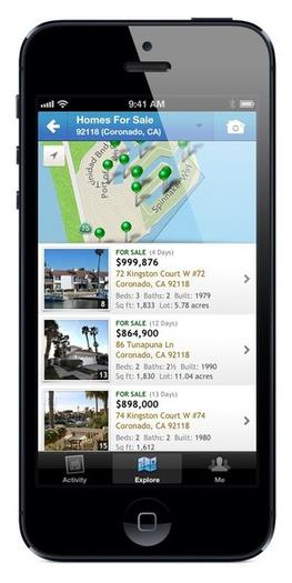 The Homesnap app displayed on an iPhone.