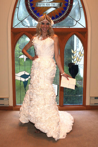 Toilet Paper Wedding Dress Contest 2013