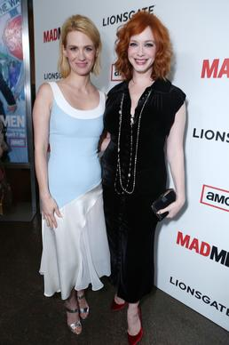 January Jones plays Don's ex-wife Betty Draper and Christina Hendricks plays Joan, the ad company's former office manager and head of the secretary's pool who's now a partner.