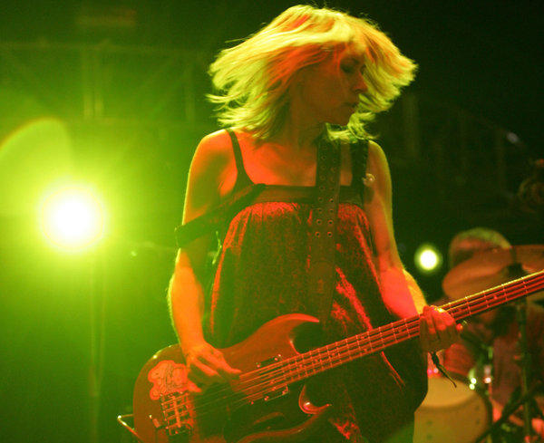 Kim Gordon performing at the Coachella Valley Music and Arts Festival in 2007.