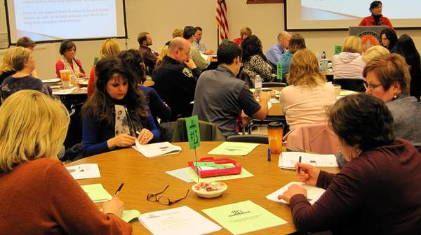 District 303 community members discuss mental health as part of the Summit D303 series.