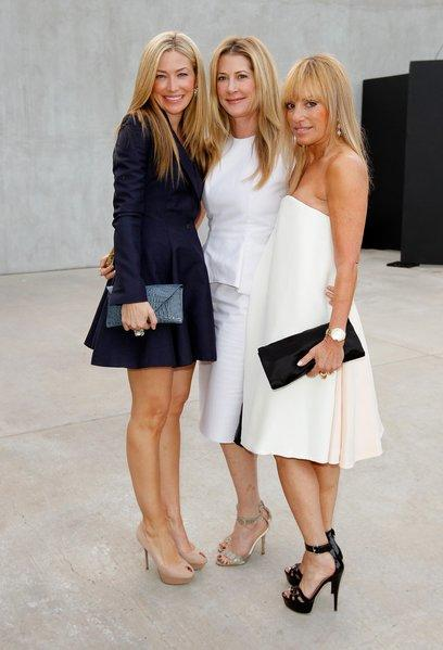 From left, hosts Quinn Ezralow, Kelly Styne and Julia Sorkin at Maxfield's celebration of Raf Simons' debut ready-to-wear collection.