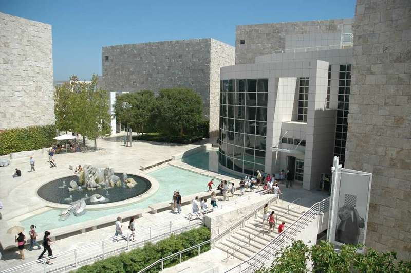 Inspect art, 'Irises' and the skyline at the Getty Center