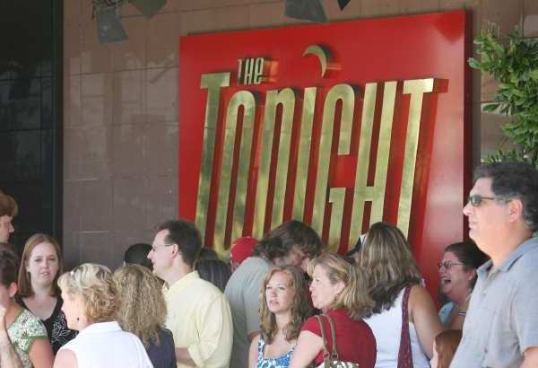"Fans line up for ""The Tonight Show"" at NBC Studios in Burbank."