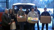 The Somerset County Farm Bureau celebrated Food Check-Out Week Feb. 19 by collecting $2,000 of food products, monetary donations and gift cards from five FFA chapters in Somerset County and Somerset County 4-H.