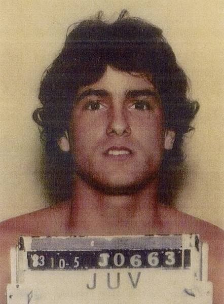 An October 1983 Miramar Police Department booking photo of Anthony Caravella, age 15. Photo Courtesy Miramar Police Department