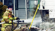 A faulty electrical wire started a fire that caused minor damage to an old log house Thursday afternoon near Clear Spring, a fire official said.
