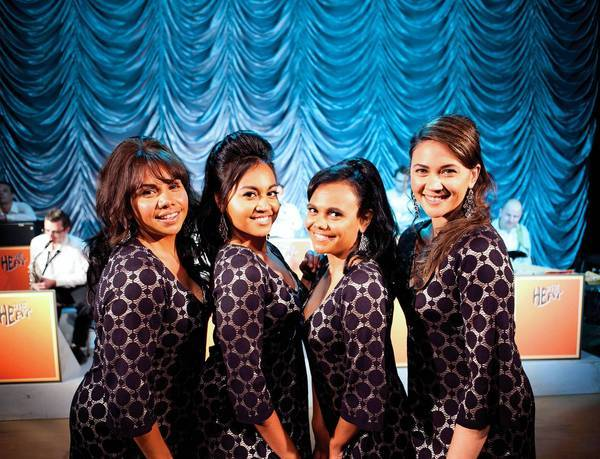 "From left, Deborah Mailman as Gail, Jessica Mauboy as Julie, Miranda Tapsell as Cynthia, Shari Sebbens as Kay in ""The Sapphires."""