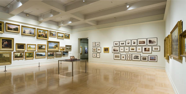 """Compass for Surveyors"" juxtaposes American paintings and photographs from the East and West coasts at LACMA."