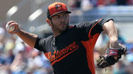 Orioles right-hander Jake Arrieta made a huge push toward solidifying his case for the team's fifth starter spot on Thursday night, tossing six shutout innings against the Pittsburgh Pirates -- his third straight scoreless Grapefruit League outing -- at Ed Smith Stadium.
