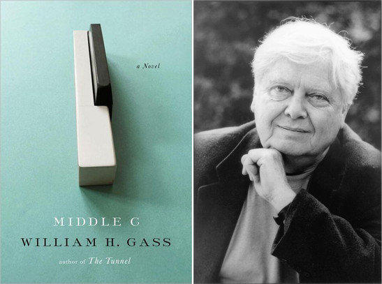 Author William H. Gass and his book, 'Middle C'.