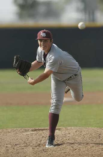Laguna Beach's Kurt Rebone pitched a complete 8-0 shutout, one-hitter against Estancia on Tuesday.