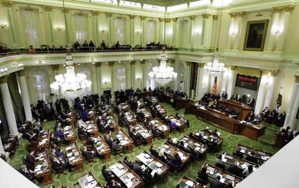 Gov. Jerry Brown gives his State of the State address at a joint session of the Legislature on Jan. 23. Raises are unlikely this year for Brown, legislators and other officeholders, the state panel that sets salaries has announced.