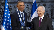 Obama receives Medal of Distinction in Israel