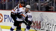 Despite a late tying goal in the third period, the Orlando Solar Bears fell to the visiting Greenville Road Warriors 5-4 in a shootout in front of an announced Amway Center crowd of 5,656.