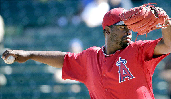 Jerome Williams, Angels long reliever, gave up seven earned runs on 11 hits in 1 1/3 innings in the team's 10-9 loss to the Rangers.