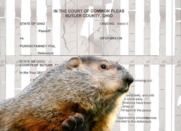 "An Ohio prosecutor issued a tongue-in-cheek indictment of Punxsutawney Phil for ""misrepresentation of an early spring,"" and is seeking the death penalty"
