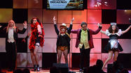 "The cast of ""The Big Bang Theory"" dressed up in ""Rocky Horror Show"" outfits to sing at Wednesday's ""A Night at Sardi's"" fundraiser in Beverly Hills for the Alzheimer's Assn. Jason Bateman was host of the evening, which honored Brian Grazer. Other singers included Jason Alexander, Beth Behrs, Emmy Rossum and Christine Ebersole, among others. <a href=""http://societynewsla.com/night-at-sardi-honoring-brian-grazer/"">[Society News L.A.]</a>"