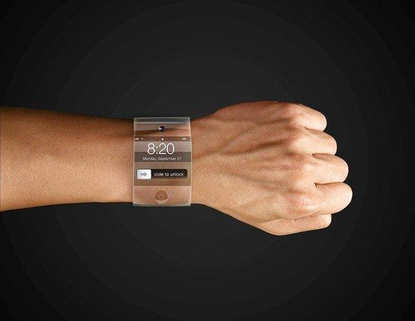 Concept of the Apple iWatch.